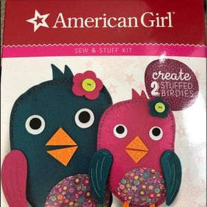 American girl sew and stuff birdies kit 8+ NIB